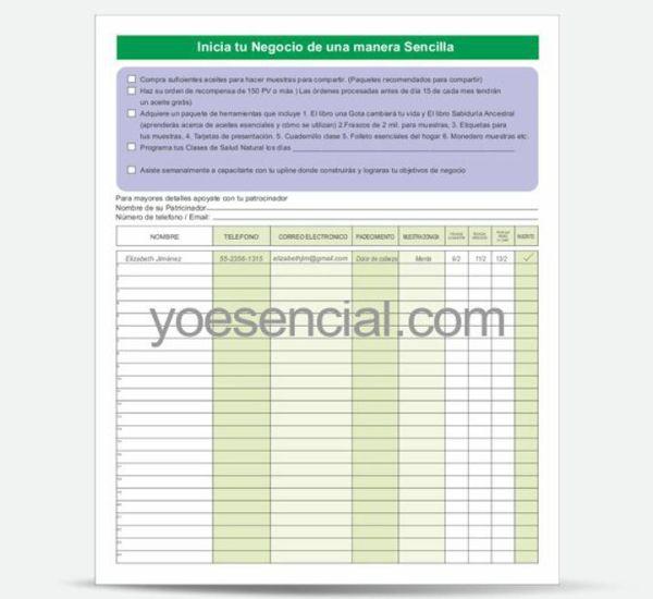 Construye tu Negocio de Aceites esenciales de una Manera Simple, Formato (paquete de 30 pzas)