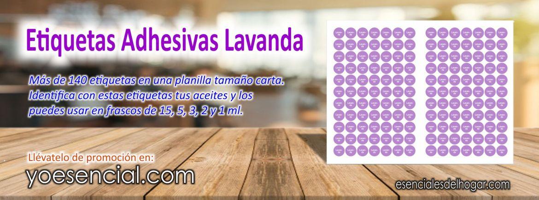 Etiquetas Adhesivas Lavanda, (Paquete de 2 planillas)