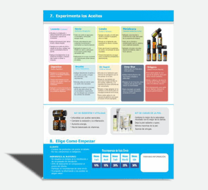 Folleto personalizable aceites esenciales