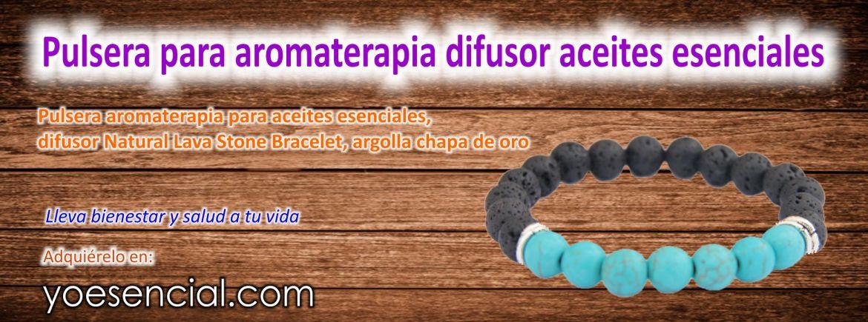 Pulsera para aromaterapia difusor aceites esenciales