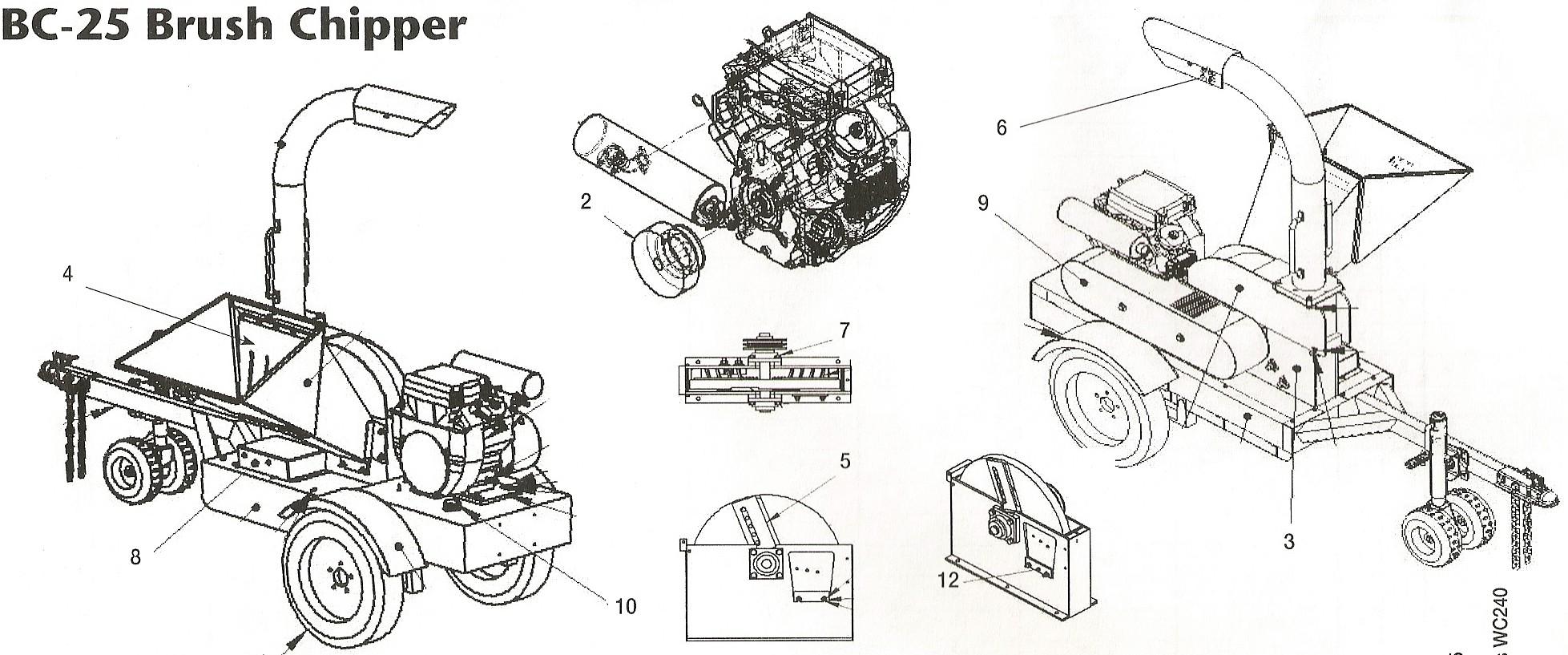 Toro Bc 25 Brush Chipper And Toro Ls 9 Log Splitter Parts
