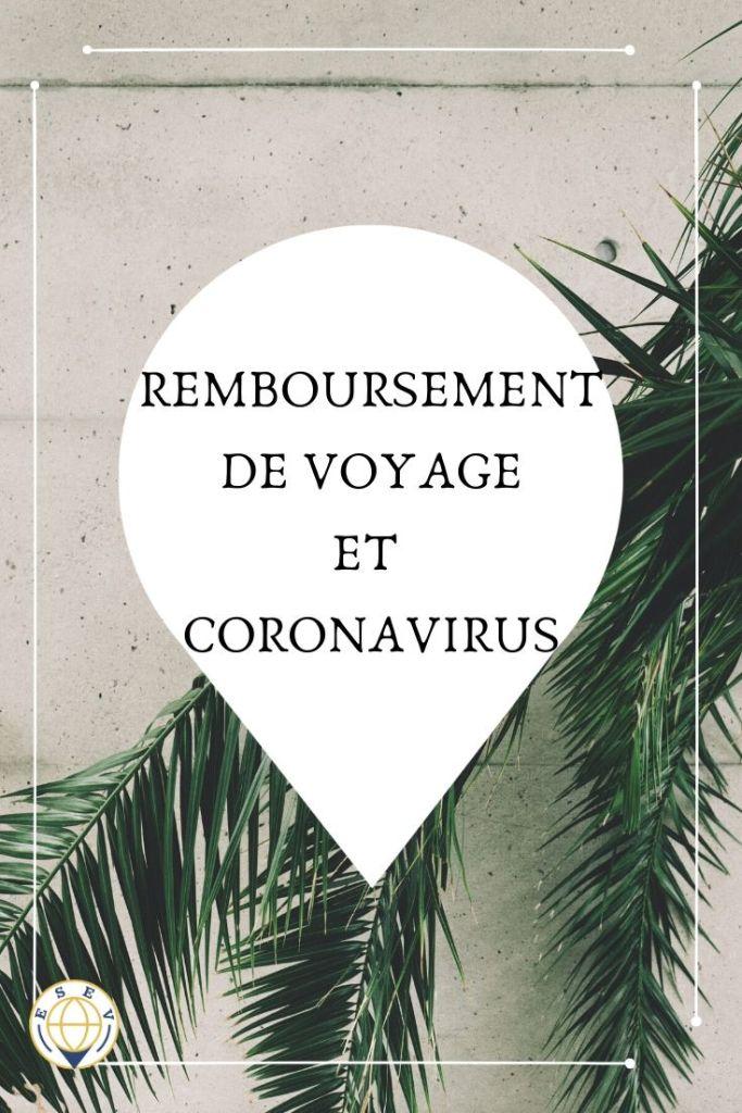Point sur les mesures misent en places pour les annulations de voyage suite au coronavirus.