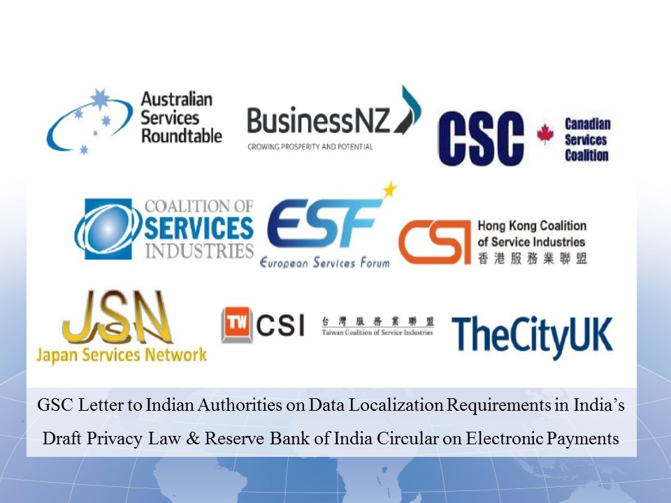 GSC Letter to India PM re Data Localization -13 November 2018