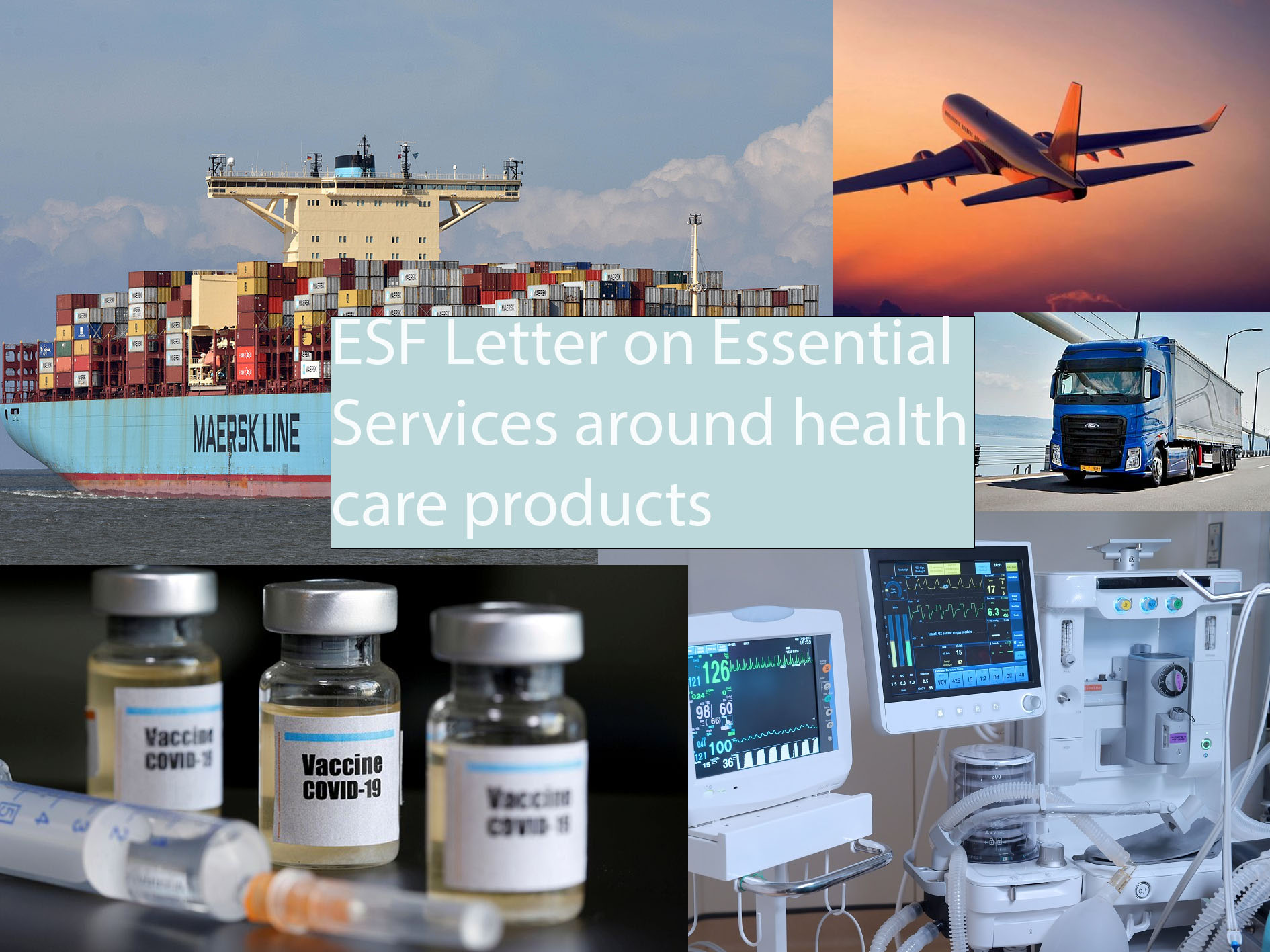 Essential services health care products transport logistics