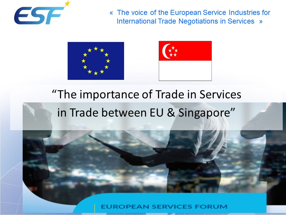 EU-Singapore trade in services - Statistics