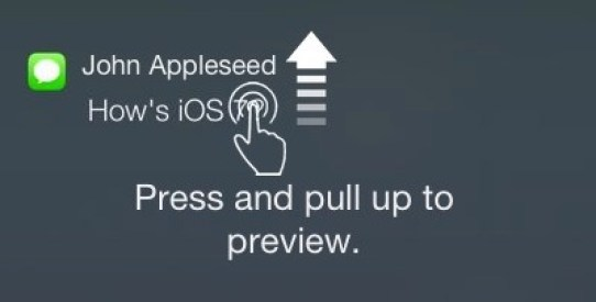 3D Touch Notifications