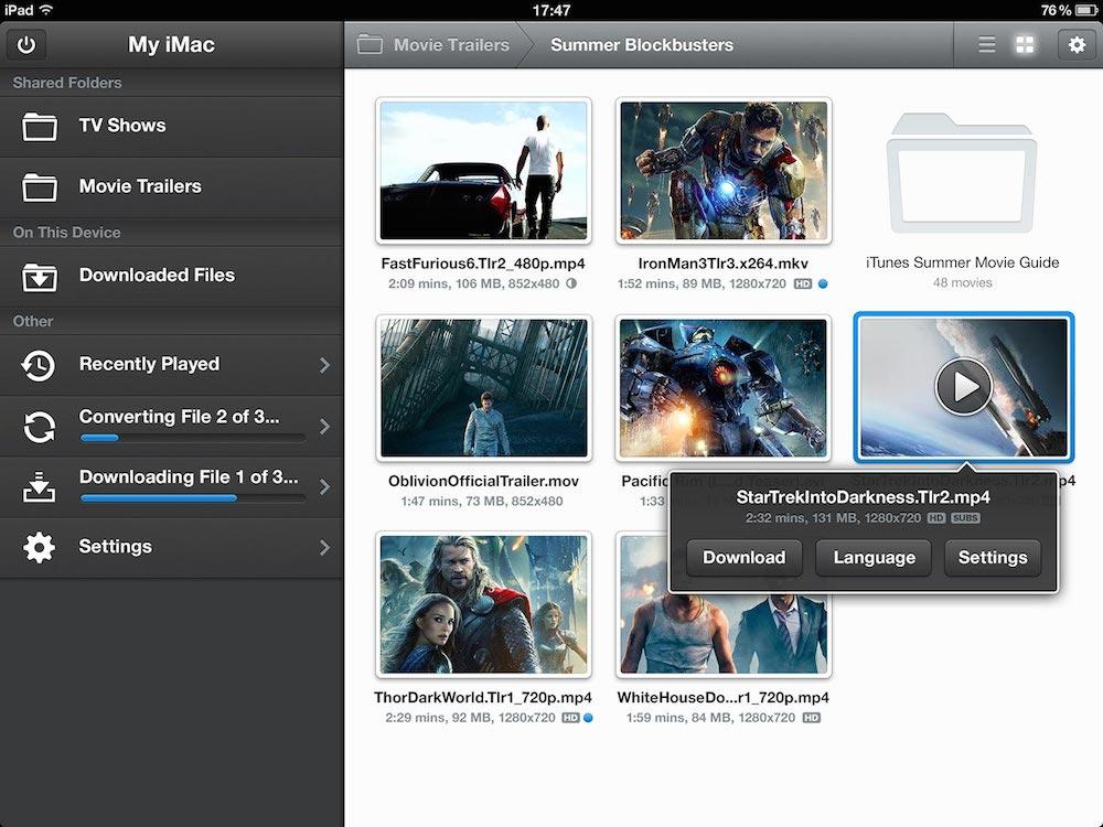 Air Video HD iPad