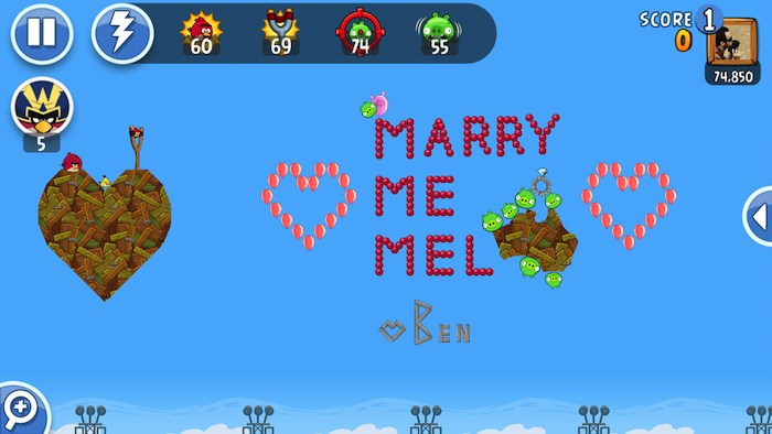 Angry Birds Marry 1