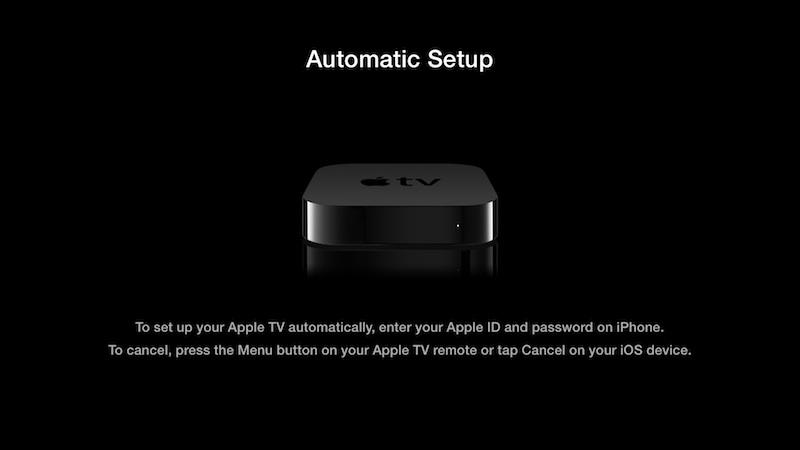 Apple TV iOs Setup BT