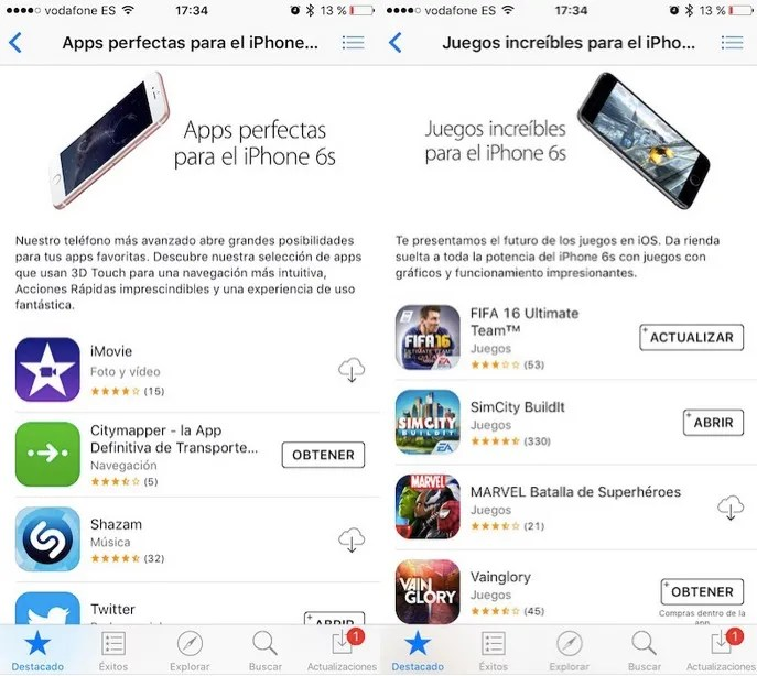 Apps para iPhone 6s