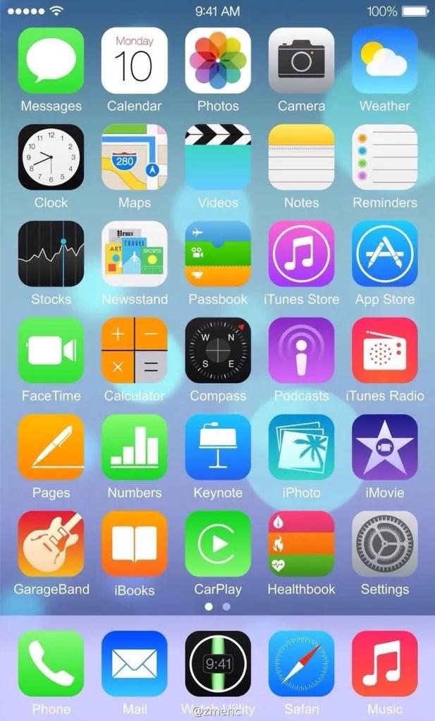 Captura iOS 8 en iPhone 6
