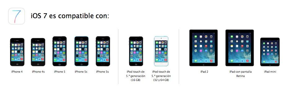 Compatibilidad iOS 7