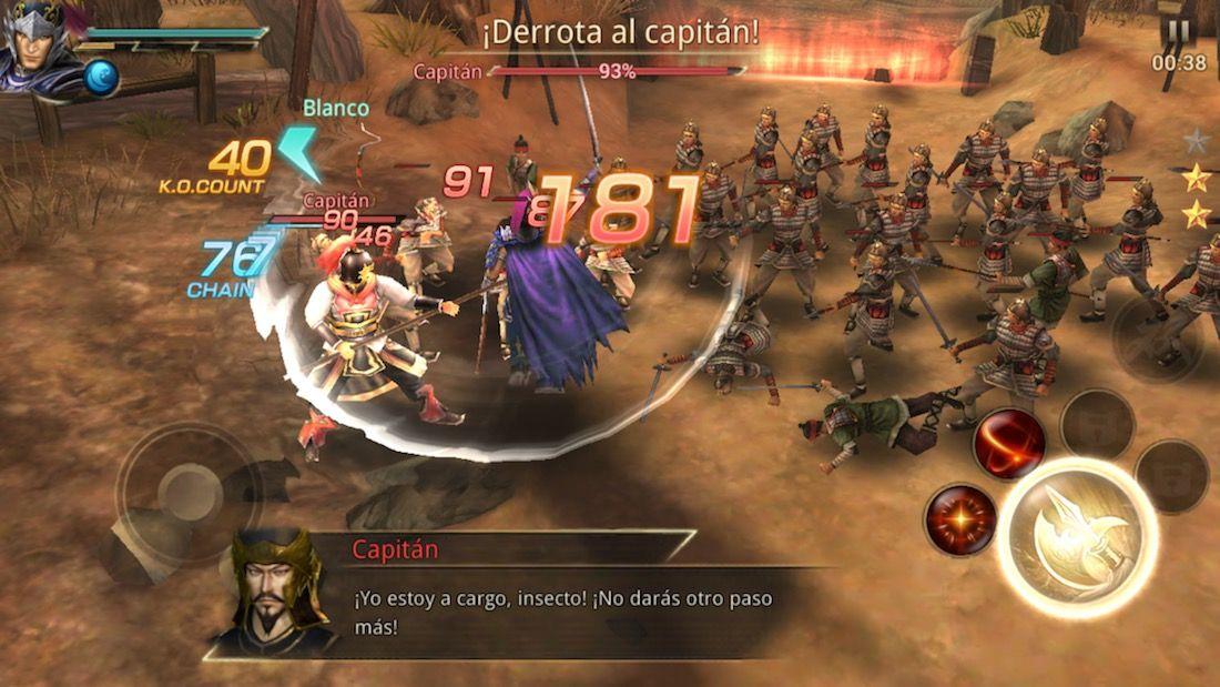 Dynasty Warriors: Unleashed para iOS - Juegos nuevos App Store