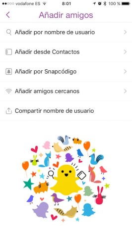 URLs personales Snapchat
