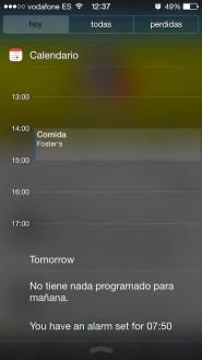 Notification center 2 iOS 7