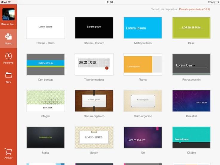 Powerpoint para iPad