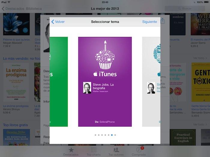 Regalar libros iBooks 3