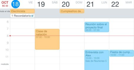 Fantastical 2 interfaz 2