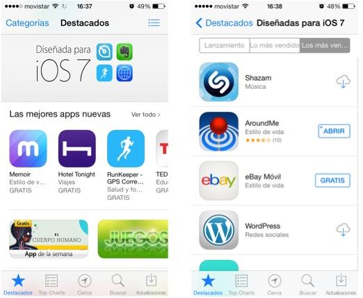 Diseñado para iOS 7