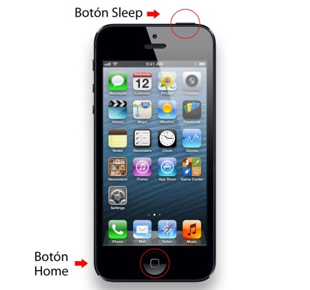 boton home y sleep iphone