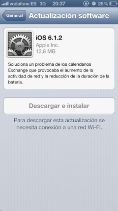 iOS 612 exchange fix