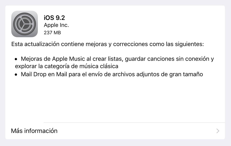 iOS 9.2 iPad
