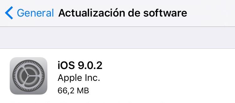 ios 9.0.2 Apple