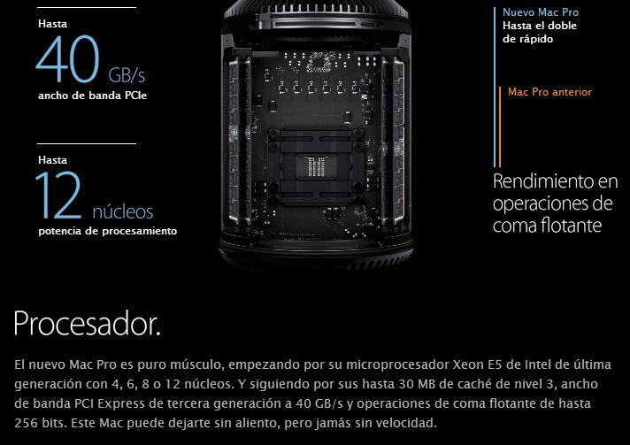 Procesador Mac Pro 2013