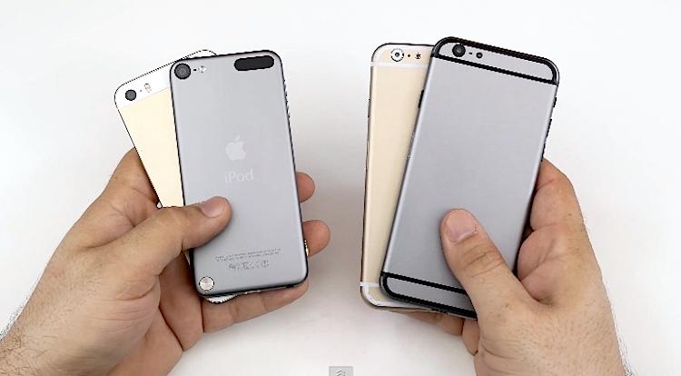 maqueta iPhone 6 vs iphone 5s