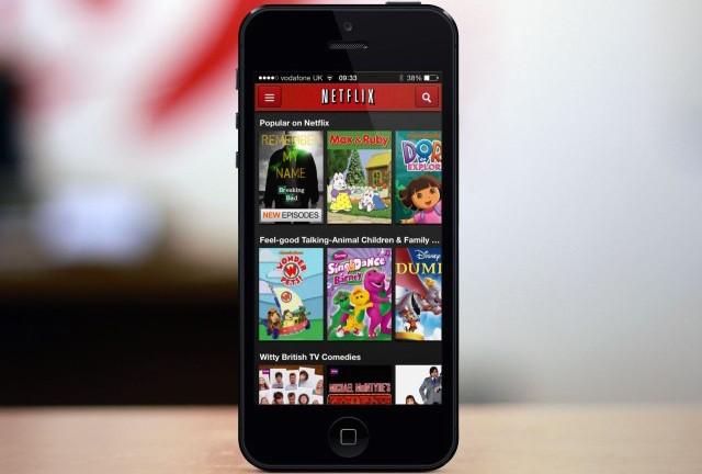 La aplicación de Tv por suscripción Netflix se actualiza  para que ahora se puedan reproducir películas HD en un iPhone 6 Plus