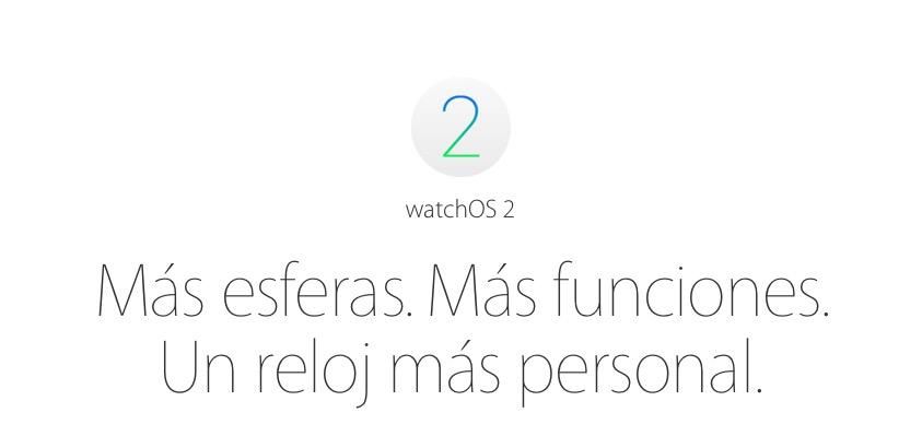 watchOS 2 novedades