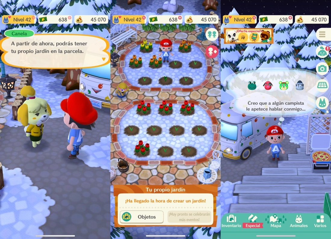 Animal Crossing: Pocket Camp jardín