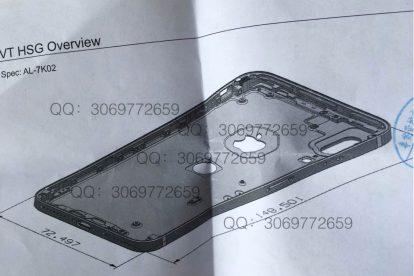 Esquema trasero iphone 8 - Touch ID
