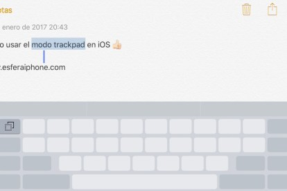 Cómo usar el modo trackpad en iOS