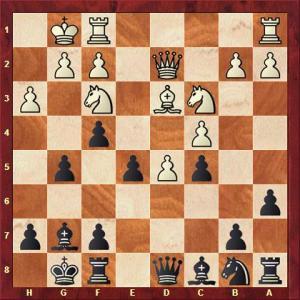 T. Symank vs T. Falk nach 13. ... dxe5