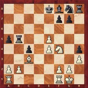 König vs Kanigowski nach 20. ... Tb8