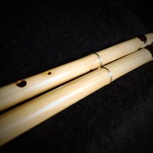 Satara, double-flute, dopel flöte; flauto doppio, flauta dobla, algoze