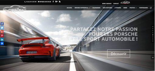 Class Six: Site Web pilotage Porsche