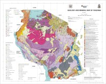 Geology and Minerals Map of Tanzania