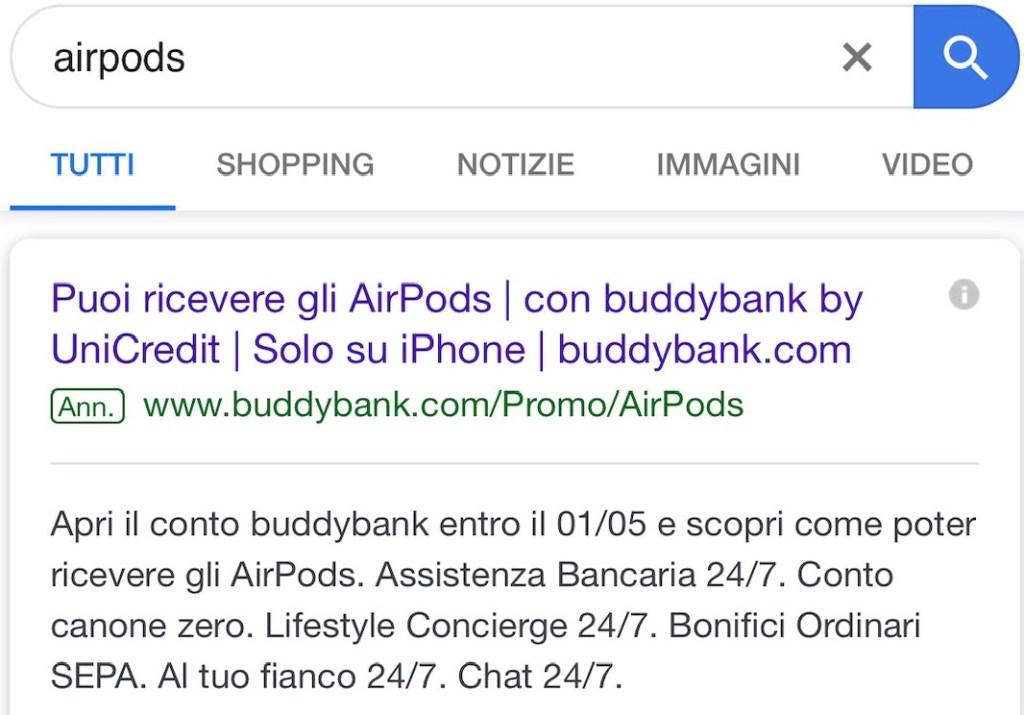 Google airpods gratis buddybank