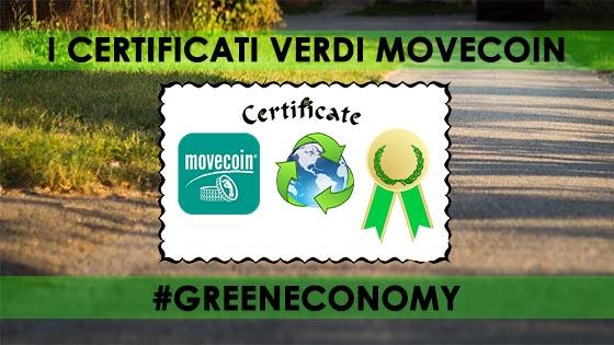 CERTIFICATI GREEN MOVECOIN - ESISTERE BENE