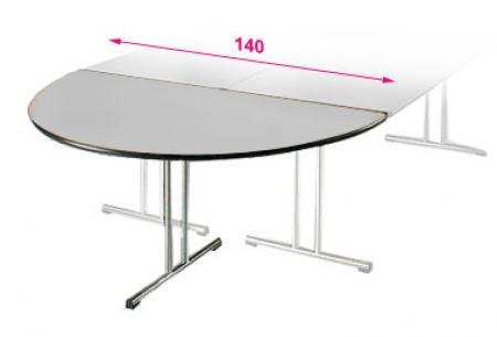 Table Demi Lune Pliante 140 X 70cm Esistore