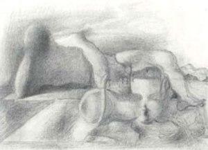 サルバドール・ダリ《果てしなき謎》1938年 鉛筆・紙 一般財団法人草月会蔵 © Salvador Dali, Fundació Gala-Salvador Dalí, JASPAR Tokyo, 2019 E3290