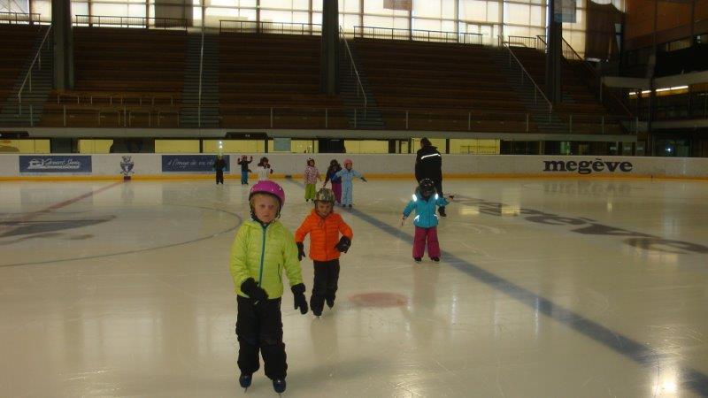 Première séance de patin pour les GS