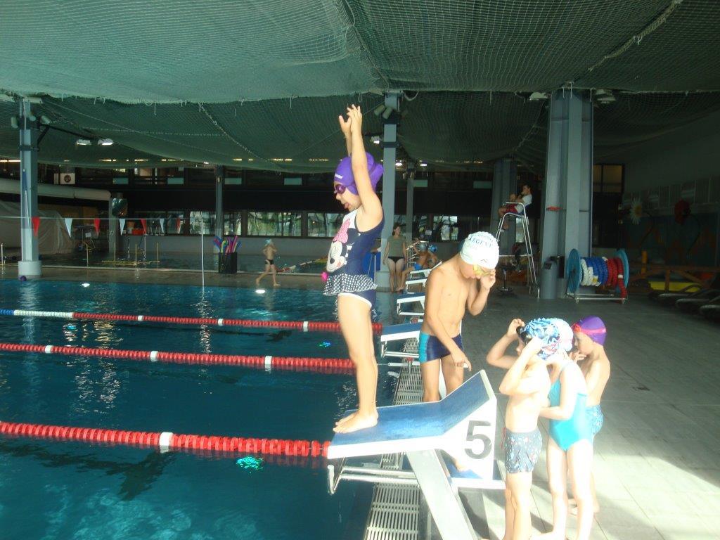 Premières séances de natation pour les GS et les CP
