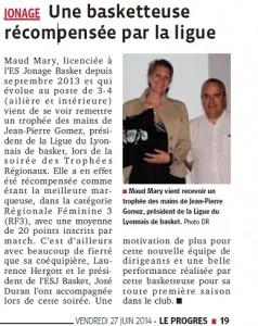 Récompense Maud Juin 2014