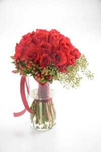 Red Passion Bouquet Red Roses | Flowers In Vase | Eska Creative Gifting