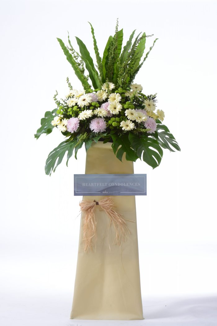 Peaceful Rays funeral condolences flower stand | Condolence Flowers | Eska Creative Gifting