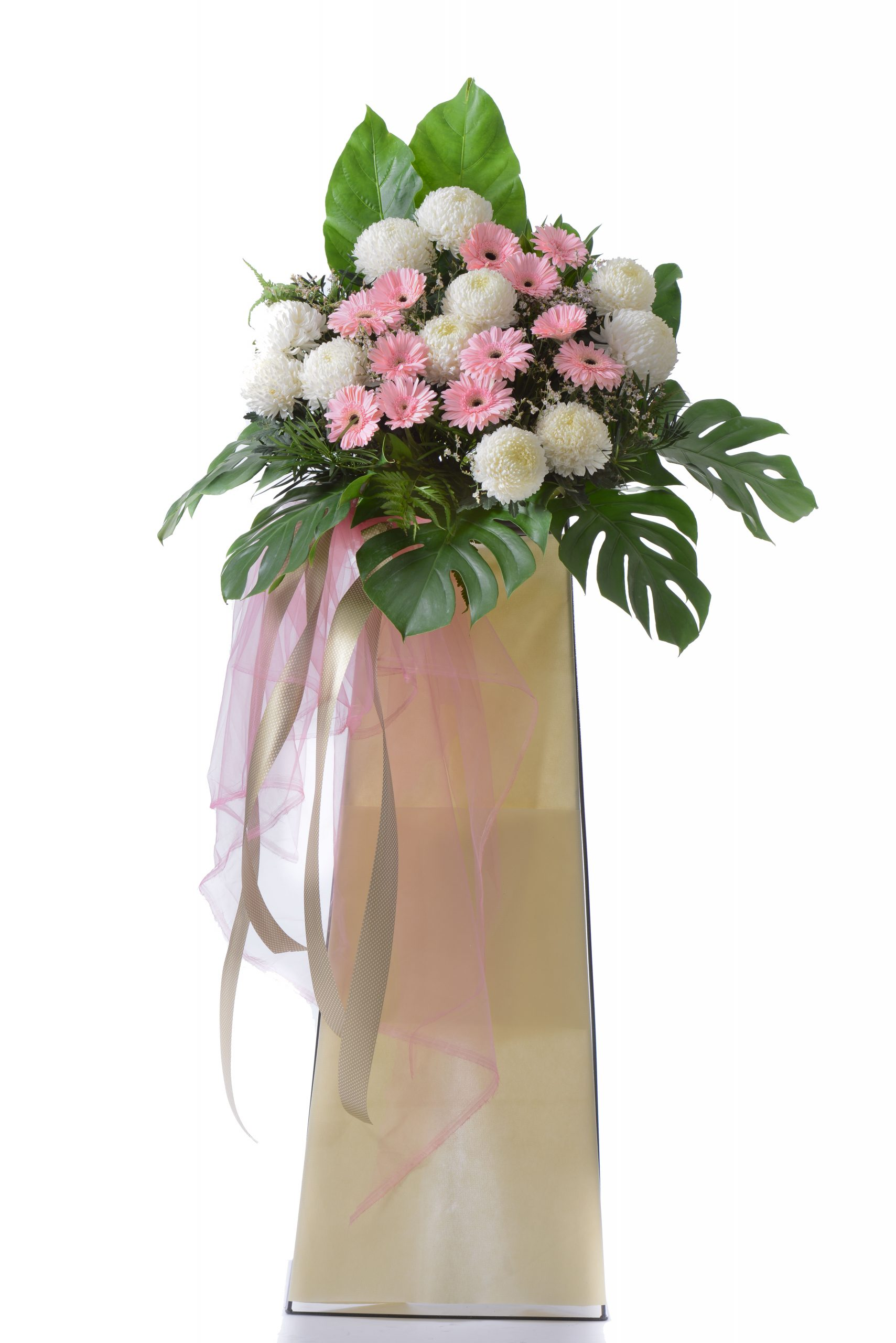 Tribute Spray funeral condolences flower stand | Condolence Flowers | Eska Creative Gifting