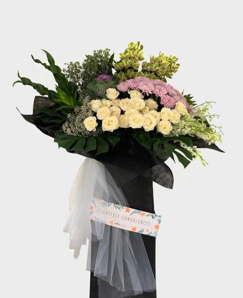 Heart Companion Funeral Flower Stand | Condolence Flower | Eska Creative Gifting